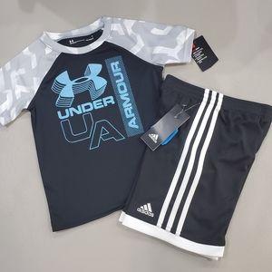 🆕️ Under Armour * Adidas  short set